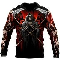 beautiful skull tattoo 3d all over printed unisex deluxe hoodie men sweatshirt zip pullover casual jacket tracksuit