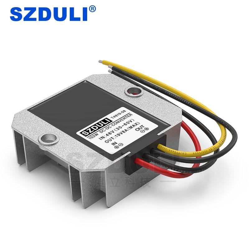 High Quality 48V to 19V 8A Step-Down DC Converter 48 Volt to 19 Volt Reducer for Golf Cart Laptop Power