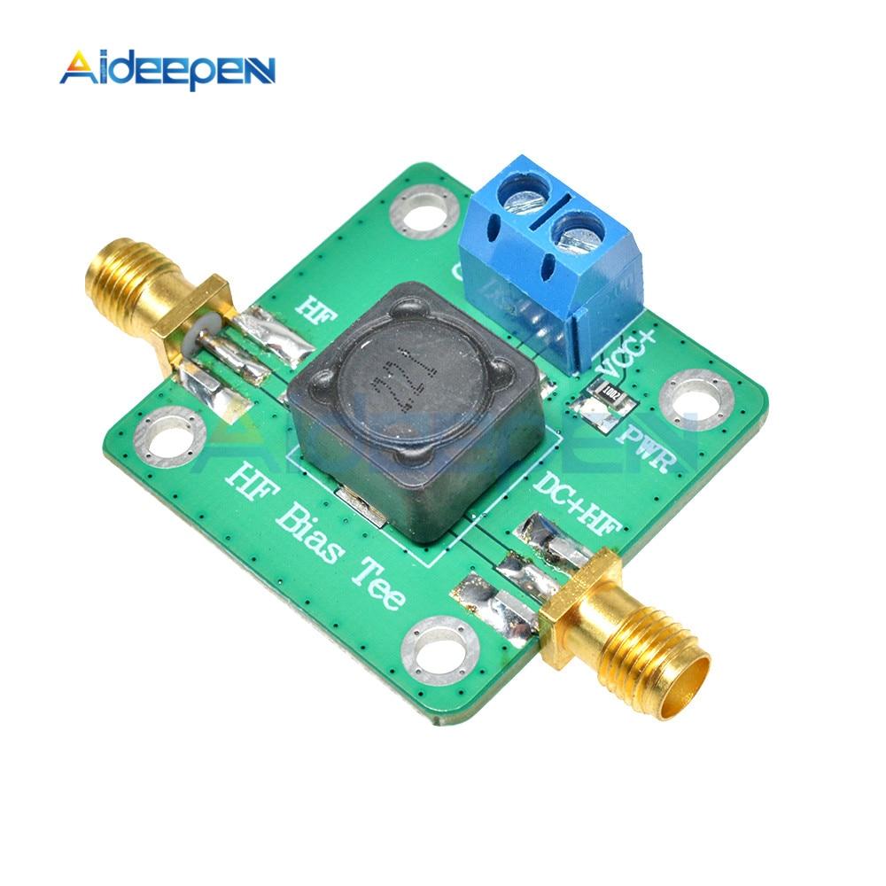 RF microondas HF DC t de polarización 50 K-60 MHz Dc alimentador por onda corta RTL SDR LNA jamón módulo de antena de amplificador de Radio