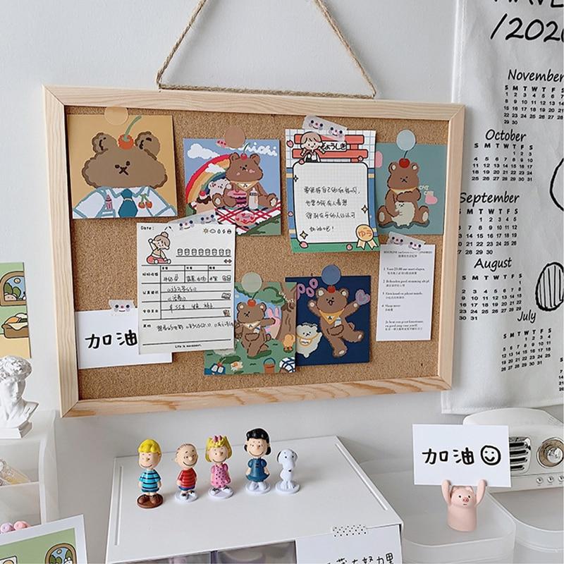 Пробковая доска с буквами для объявлений, настенная подвесная доска для объявлений, декоративная открытка, фото, настенная пробковая доска,...