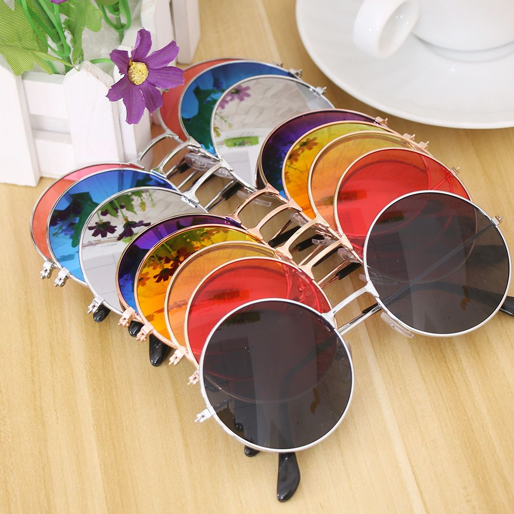 NEW Women Fashion Retro Round Plastic Glasses Lens Sunglasses Eyewear Frame Glasses Brand Designer S