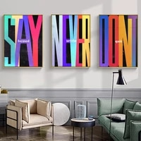aahh stay focused dont quit never settle canvas painting artwork modern pop street art motivational wall art for home decor