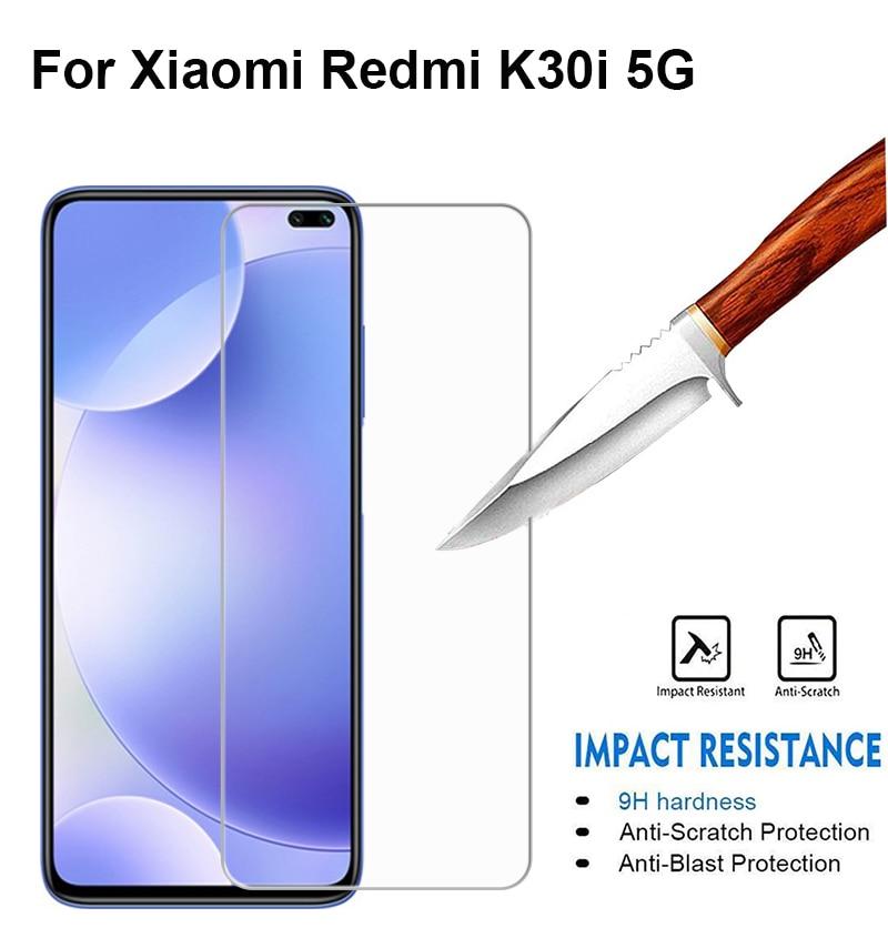 2pcs glass Xiaomi Redmi k30i Tempered Glass For Ksiomi mi Xiami Redmi k30i 5G Screen Protector For R