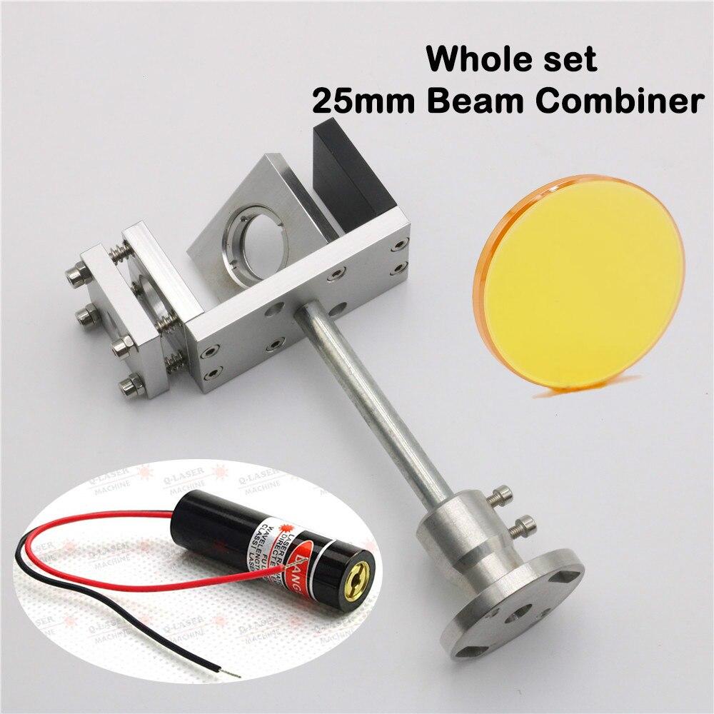 Combinador de haz láser Co2 de 25mm 10,6 um con montura y puntero láser envío gratis