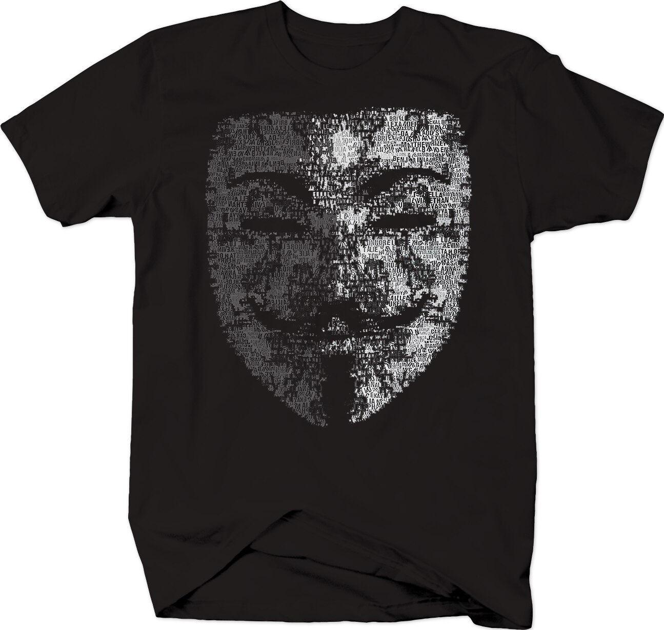 Guy Fawkes Anonymous Mask Free Information T-Shirt Mens