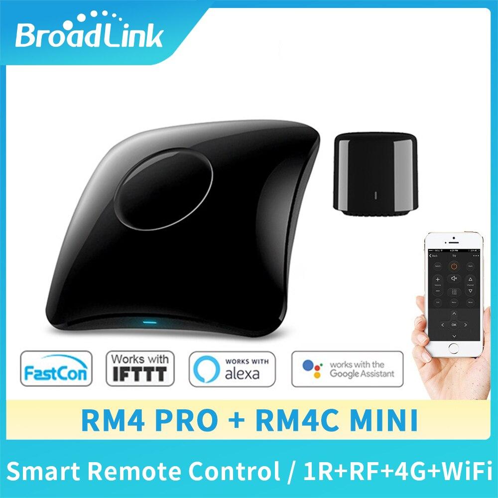 Broadlink controle remoto universal rm4 pro rm4c mini 2020, controle remoto inteligente para automação residencial wi-fi + ir + interruptor rf ios android