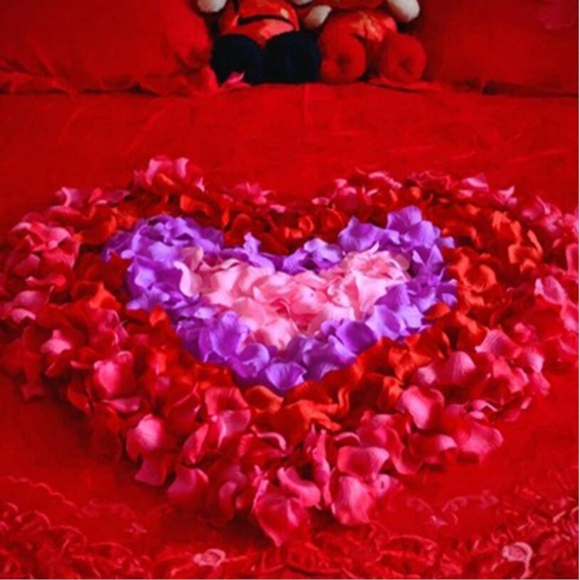 100 unids/pack 5*5cm Fl colorida flor Artificial accesorios De la Boda pétalos...