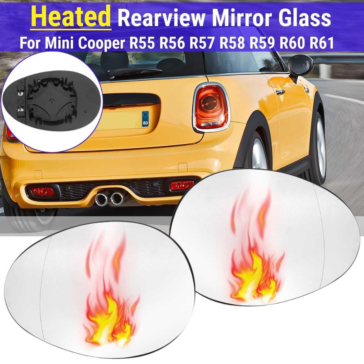 Car Antifog Heated Rearview Mirror Glass side wing mirror 51162755625 51162755630 For Mini Cooper R55 R56 R57 R58 R59 R60 R61