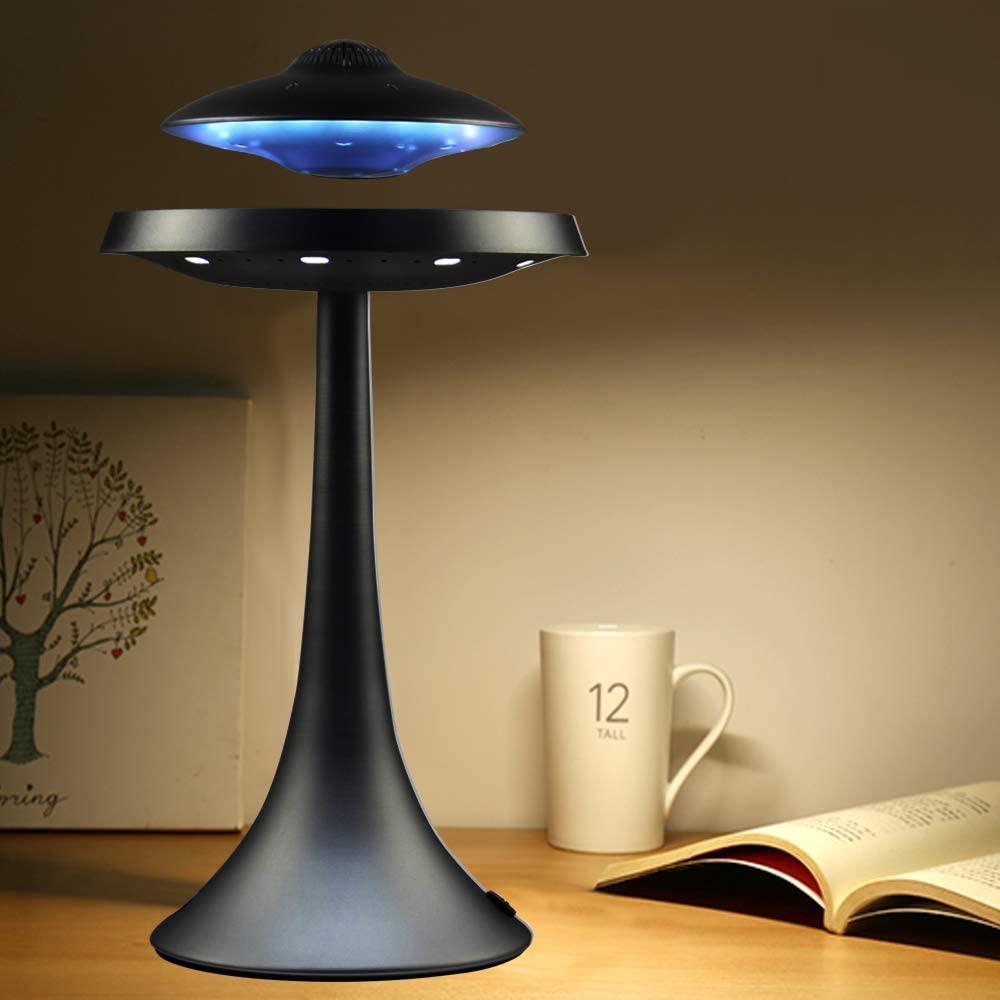 Levitating Floating Speaker, Magnetic UFO Bluetooth Speaker V4.0, LED Lamp Bluetooth Speaker with 5W Stereo Sound, Wireless Char enlarge
