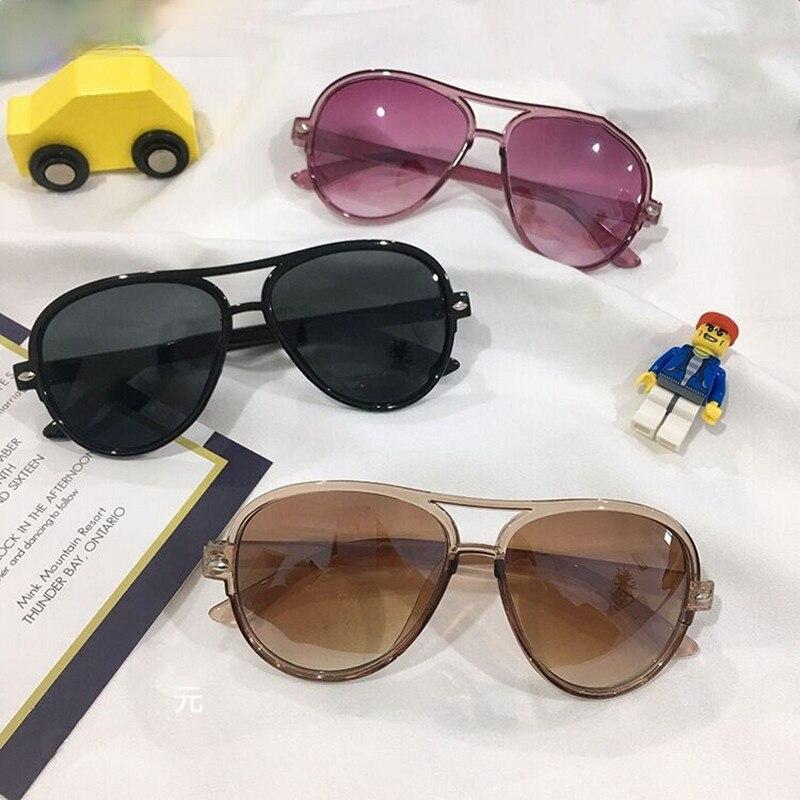 Fahsion Mirror Kids Sunglasses Children Gradient Colorful Pink Sunglasses UV400 Girls Boys Baby Sun