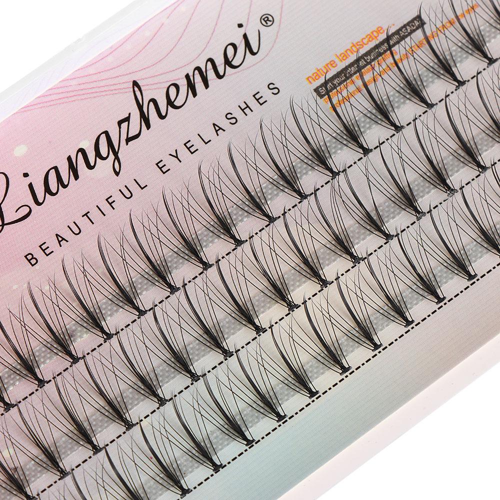60 clúster/caja de pelo de visón falso pestañas postizas individuales definición audaz extensiones de pestañas largas naturales gruesas sin nudos