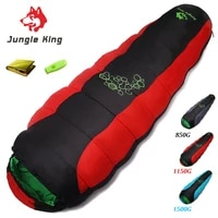 jungle king 0901 adult thick padded four hole cotton sleeping bag outdoor camping hiking special camping sleeping bag 850 1500g