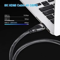 hdr video 8k hdmi 2 1 compatible braided cable 8k 60hz 4k 120hz speeding 48gbps support 3d hdcp 2 3 dts for ps5 netflix tv box