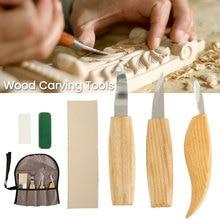 6 pièces/ensemble ensemble de sculpture sur bois couteau à bois tranché ciseaux à Gouge bricolage Cutter outils de sculpture sur bois