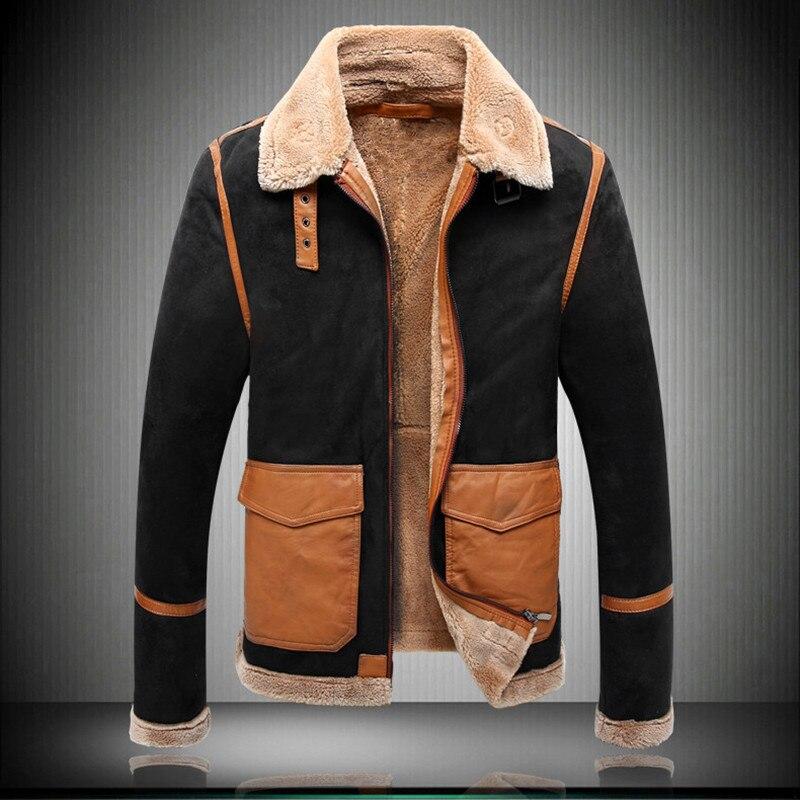 الرجال الكلاسيكية الخريف/الشتاء الفراء سترة جلدية 2021 الرجال موضة جديدة فو الفراء رشاقته الدافئة ضئيلة دراجة نارية معطف ropa S-5XL