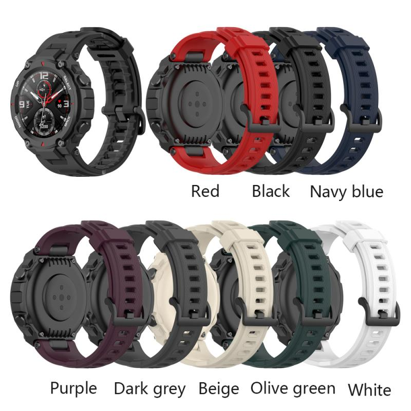 smart watch band for amazfit t rex pro silicone replacement bracelet accessories for amazfit t rex strap watchband with tool Silicone Sport Strap For Amazfit T-Rex Smart Watch Replacement Strap Band Bracelet Breathable Watch Strap Smart Accessories
