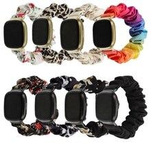 Elastic Fabric Band for Fitbit Versa 3 Women Girls Woven Strap Scrunchies Watch Band For Fibit sense