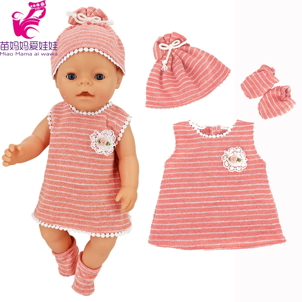 clothes for baby born dolls winter fur cloak coat windbreaker clothes for 18 inch doll outwear sets girl christmas dress Doll Clothes for 17 Inch 43cm Baby New Born Doll Pink Dress Clothes for 18 Inch Girl Doll Dress Dropshipping