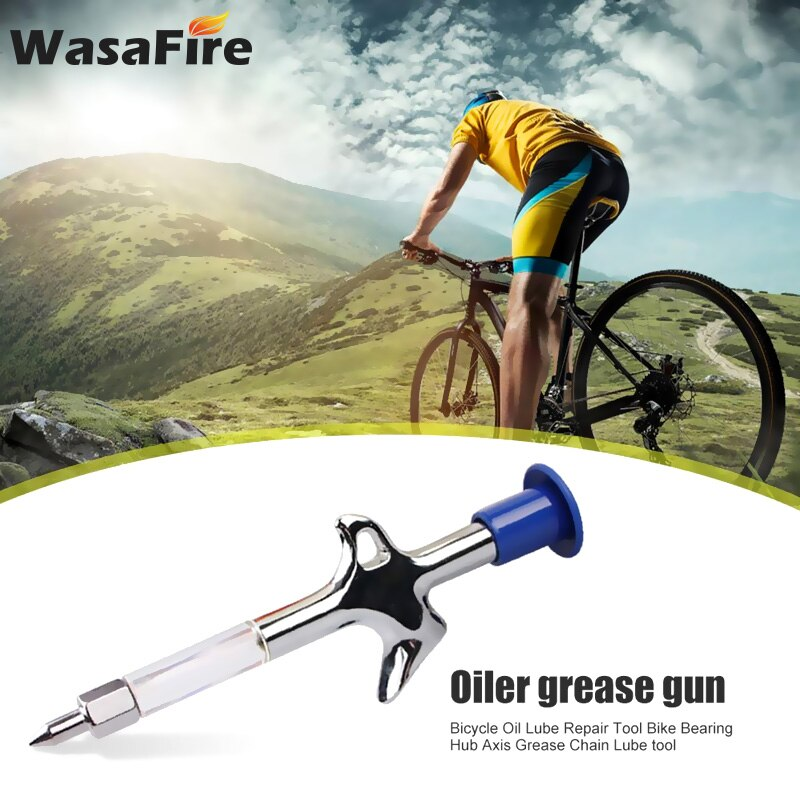 Lubricante de aluminio para bicicleta, pistola engrasadora para montaña, aceite lubricante para Herramientas de reparación de bicicletas MTB, herramienta de servicio de inyector preciso, accesorios para bicicletas