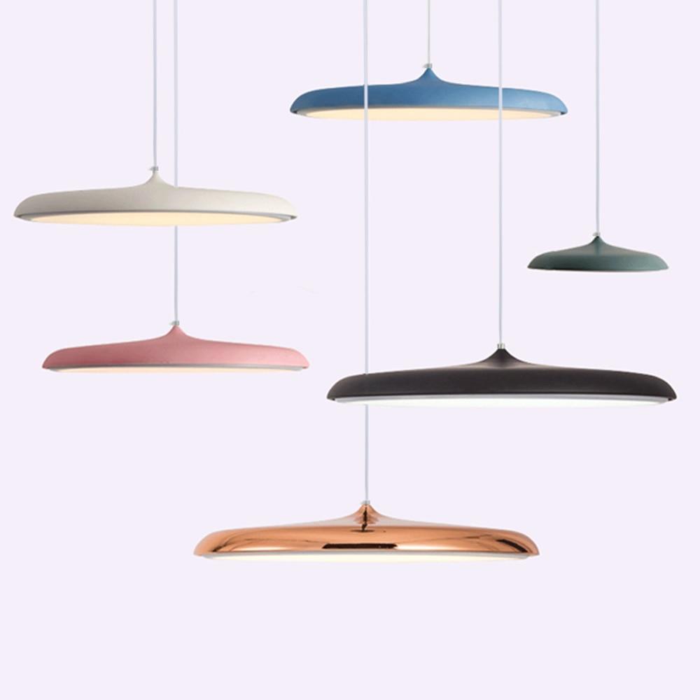 LED Disc Aluminum Pendant Light E27 Bedroom Parlor Indoor Lighting Hanging Lamp Dining Room Decor Pendant Lamp Kitchen Fixtures