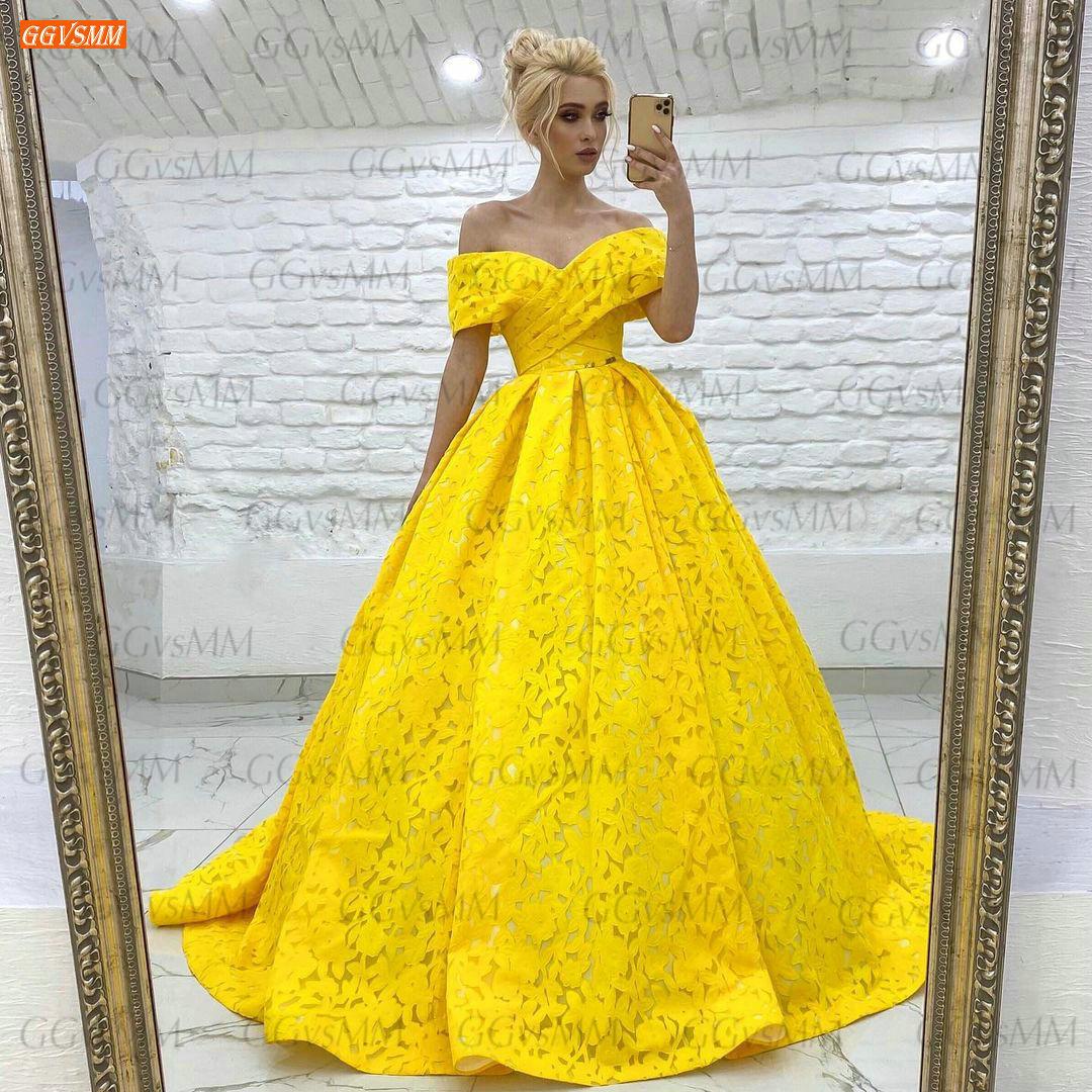 Vestidos amarillos de graduación para mujer, vestido largo de fiesta de boda...