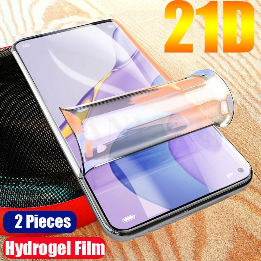Película hidratante curva 21D para Huawei P30 P20 Pro Honor View 20 Pro 20S 8X P30 P20 Nova 7 Pro 5T, Protector de pantalla de TPU de silicona