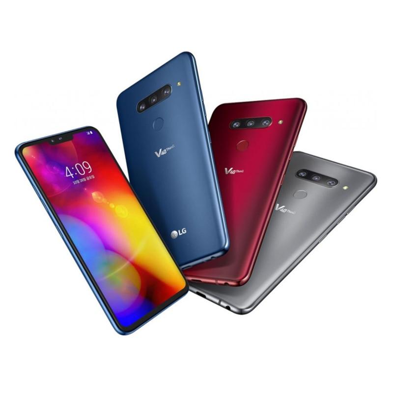Фото2 - Смартфон LG V40 ThinQ V409N, разблокированный, V409UA, V405EBW, мобильный телефон, Восьмиядерный, экран 6,4 дюйма, 6 ГБ ОЗУ, 64 Гб ПЗУ, 3 + 2 камеры, 16 МП, Android