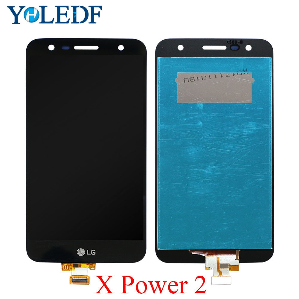 5.5 wyświetlacz LCD do LG X mocy 2 M320 pełna wyświetlacz LCD z ekranem dotykowym Digitizer zgromadzenia z ramki M320G m320F M320N Monitor LCD
