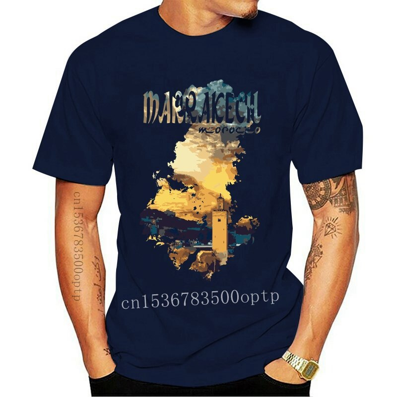 New Best Destinations In The World Marrakech Morocco Mens Tee Shirt Top AG19 Cool Casual pride t shirt men Unisex 2021 Fashion