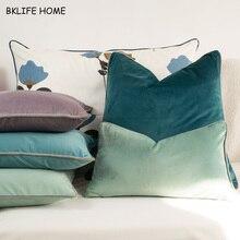 Housse de coussin de chaise/canapé   En velours gris multicolore, housse de oreiller de canapé, sans rembourrage, décoration de la maison
