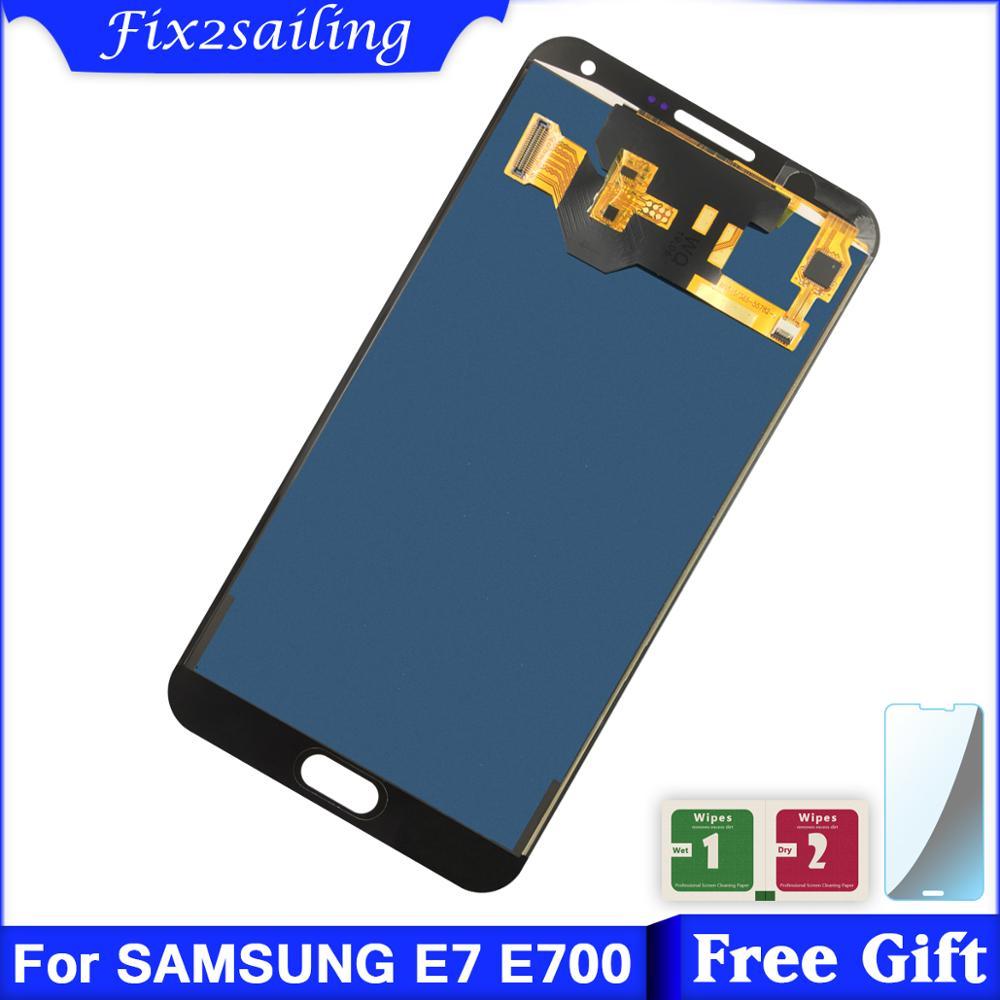 5,5 pulgadas nueva pantalla LCD para Samsung Galaxy E7 LCD E700 E700F E700M LCD pantalla táctil reemplazo E7 LCD