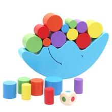 Moon Equilibrium Game Wooden Stacking Blocks Balancing Game Sorting Toy for Kids High Quality
