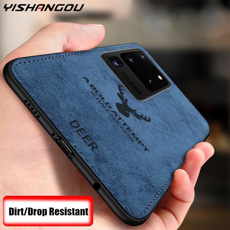 Чехол для Samsung Galaxy S20 Ultra Plus A51 A71 A10 A30 A50 A70 Note 10 9 8 S10 S9 S8 мягкие чехлы тонкий тканевый чехол с оленем