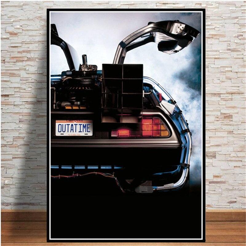 Póster de película de vuelta al futuro, pósteres de coche geniales, impresiones, Cuadros, arte de pared Vintage, pintura en lienzo para decoración para sala de estar