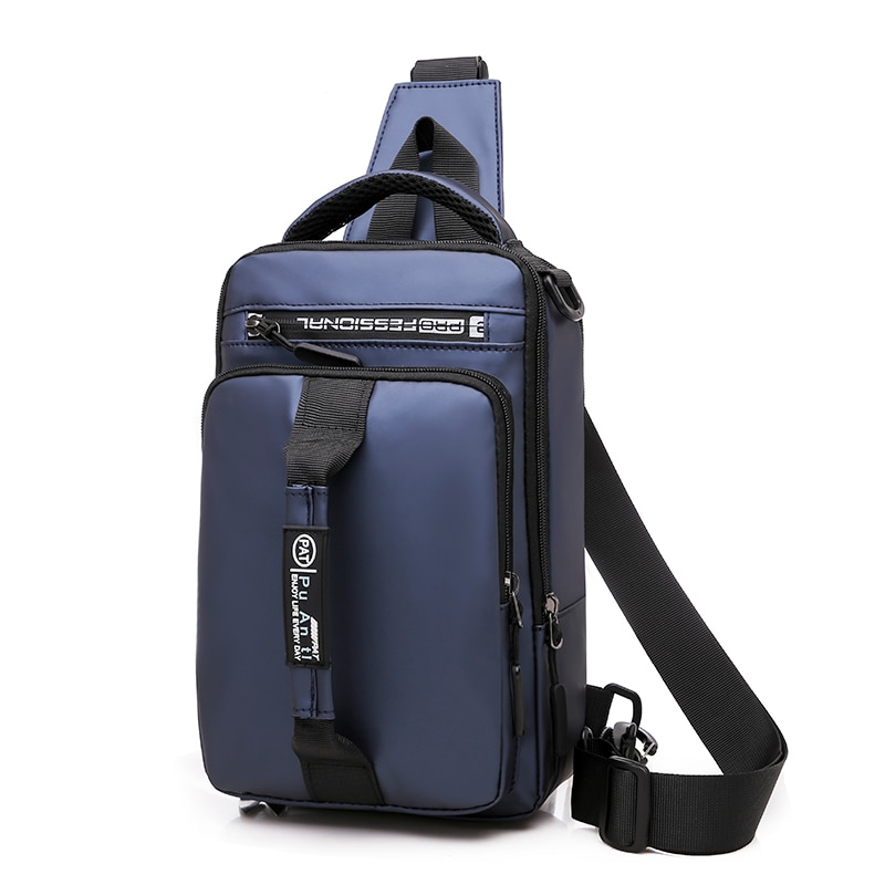 Multifunction Crossbody Bags Men Chest Pack Short Trip Messengers Chest Bag Waterproof Large Capacity Shoulder Bag Male