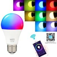 Ampoule intelligente Wifi 9W RGB  lampe LED a commande vocale  variateur  fonctionne avec Alexa Google Home
