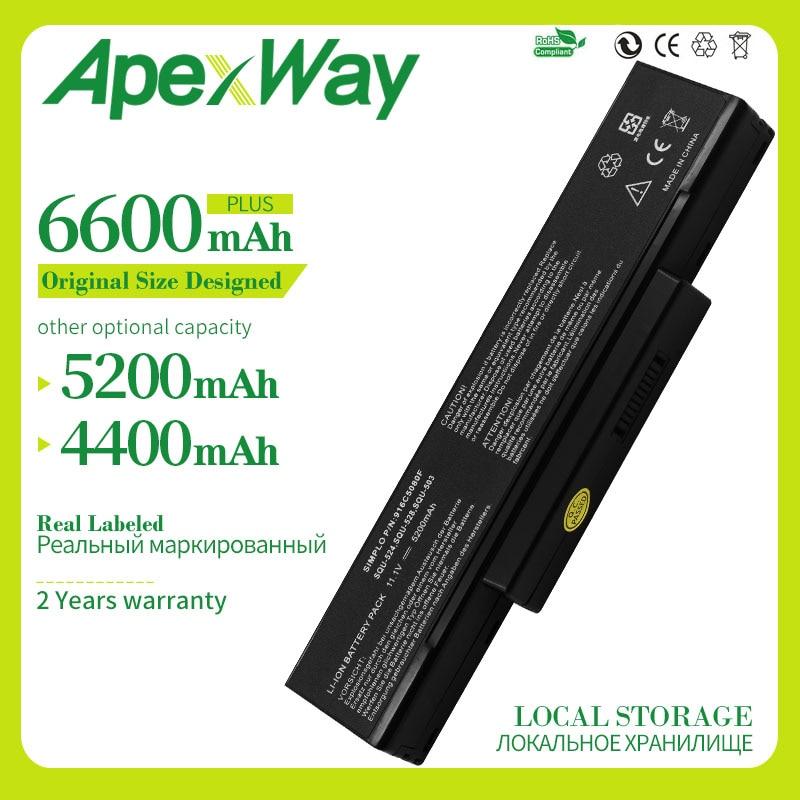 Apexway 11.1V 6 خلايا بطارية كمبيوتر محمول جديد ل ASUS A32-Z94 A32-Z96 SQU-526 SQU-528 SQU-503 A9 سلسلة A9T A9C A9R A9Rp A9Rt A9T A9W