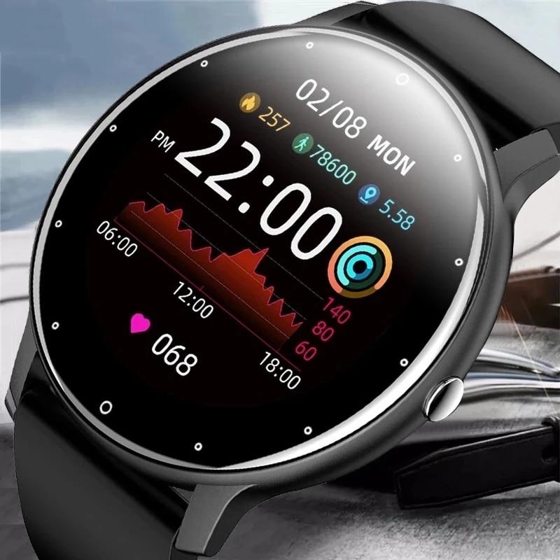 2021 New Smart Watch Women Men Sport Fitness Smartwatch Tracker Sleep Heart Rate Monitor Waterproof