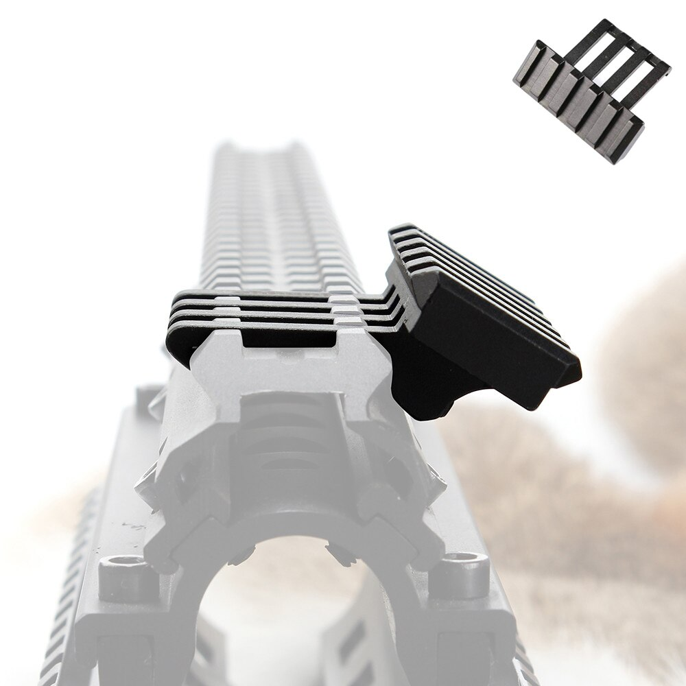Tactical 5 ranuras 30 grados Picatinny Weaver ángulo adaptador de desplazamiento riel de montaje Base para AR 15 Rifle Red Dot linternas