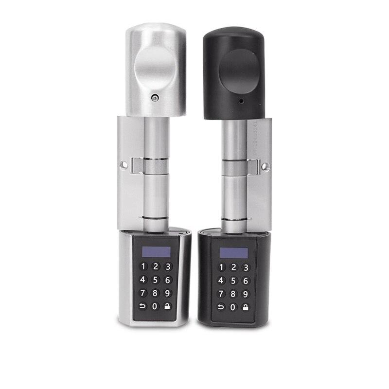 L6PCB Bluetooth cerradura digital de seguridad, cerradura de puerta, teclado inteligente inalámbrico Bluetooth, contraseña, cilindro de cerradura electrónica con manija de la perilla de la puerta