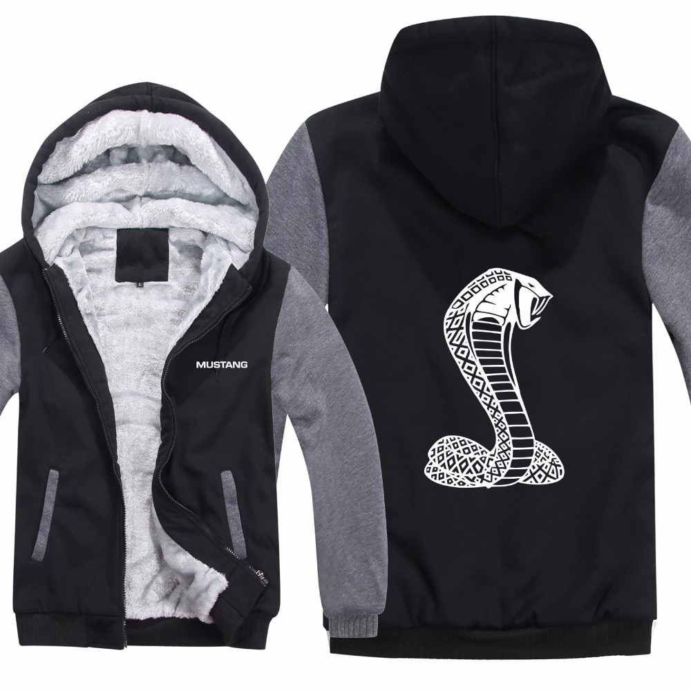Shelby Cobra Hoodies Jacket Winter Pullover Car Man Coat Men Wool Liner Fleece Unisex Ford Mustang Sweatshirts
