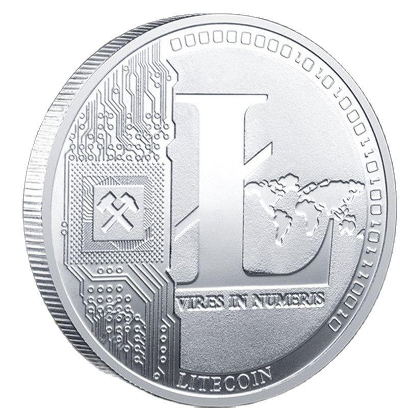 Creative Litecoin Coin Souvenir Silver Plated Collectible Great Gift Litecoin Art Collection Physical Commemorative Coin недорого