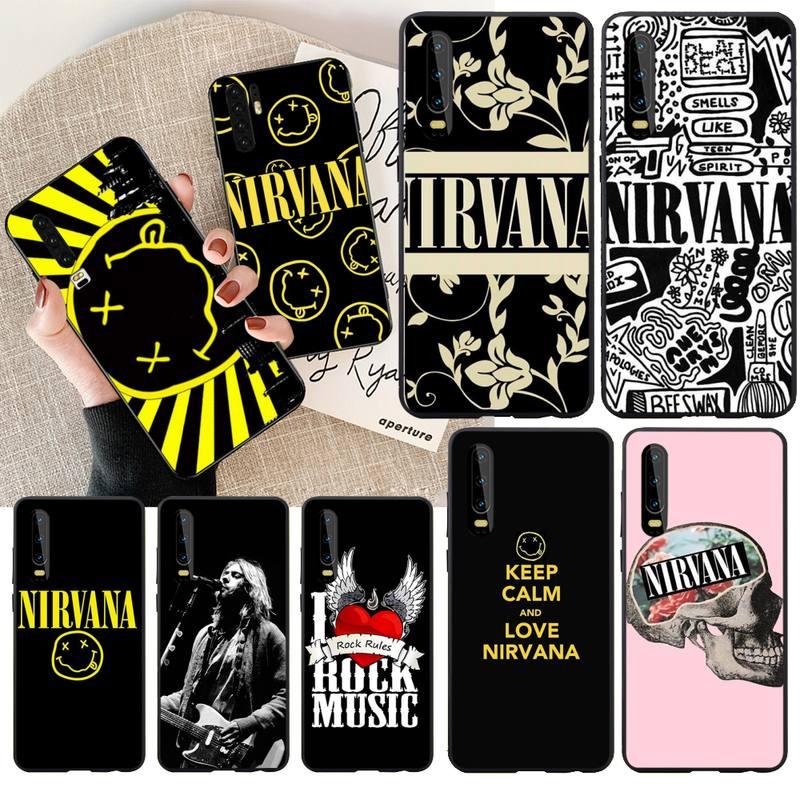 PENGHUWAN rock Nirvana, Kurt Cobain, Smiley cubierta de la caja del teléfono para Huawei Honor 20 10 9 8 8x 8c 9x 7c 7a Lite ver pro