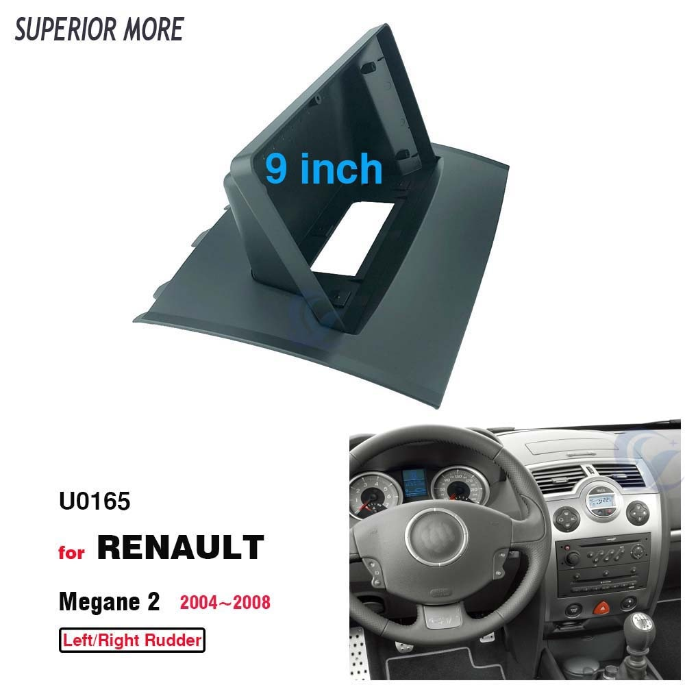 Автомобильный радиоприемник 2DIN, 9 дюймов, рамка панели для RENAULT Megane2 2004 ~ 2008, установка DVD GPS Mp5, пластиковый комплект для крепления приборной панели