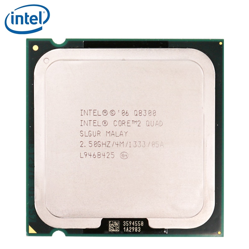 Intel processador quad-core, processador intel core 2 quad q8300 2.5ghz quad-core cpu 4m 95w lga 775 testado 100% trabalhando