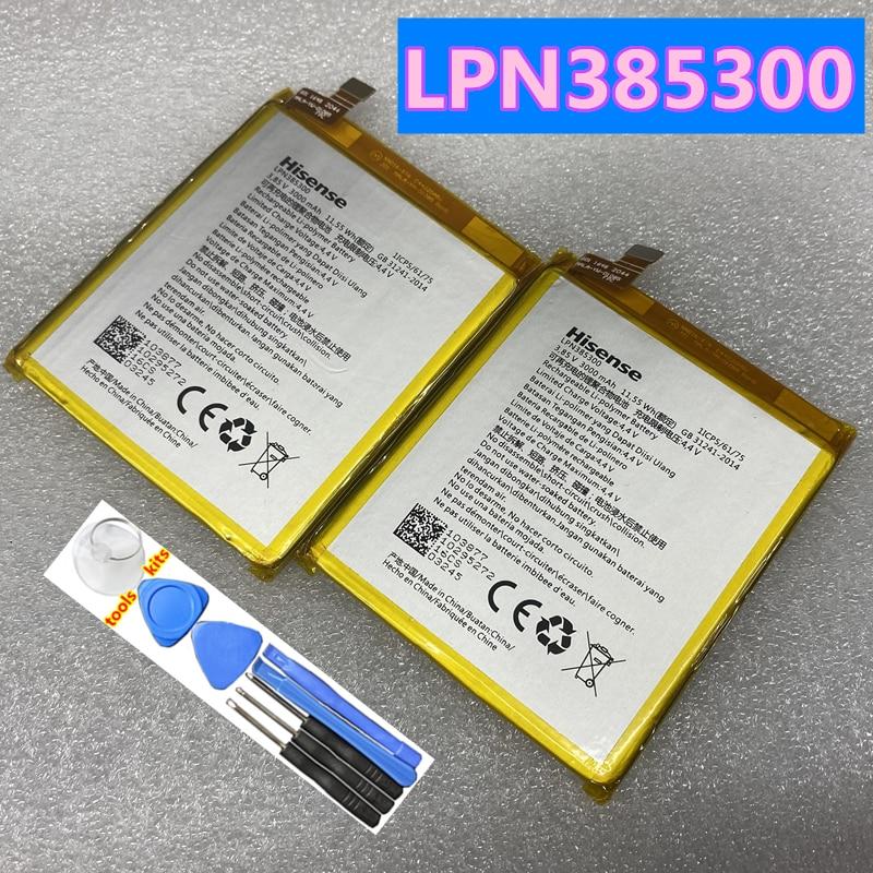 Original New High Quality 3000mAh 11.55Wh 3.85V LPN385300 Battery For Hisense F23 F23M Mobile Phone