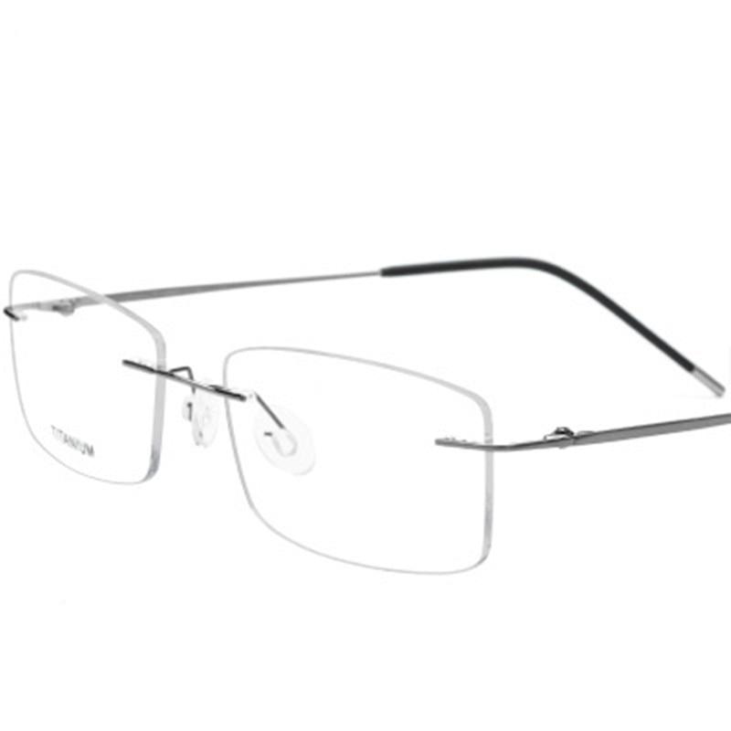 OEYEYEO جديد بدون شفة سبائك التيتانيوم النظارات الرجال خفيفة للغاية النظارات البصرية إطار المرأة موضة قصر النظر نظارات