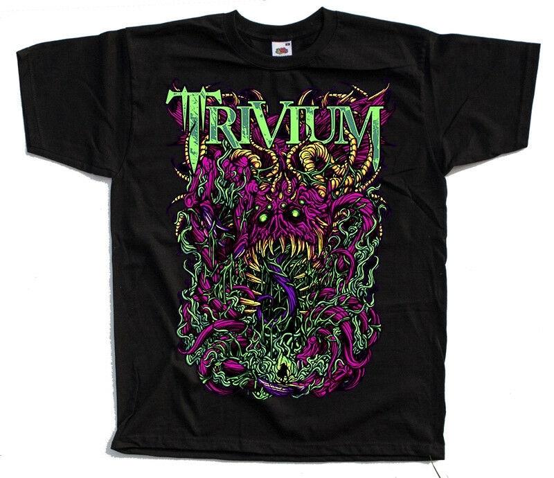 Trivium de la banda estadounidense de Heavy Metal cartel DTG camiseta (negro) S-5XL