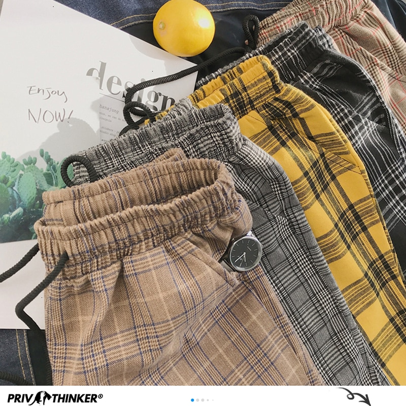 Privathinker Harajuku Plaid Pants For Women Trousers 2021 Streetwear Woman Harem Pants Autumn Ladies Causal Pants Plus Size