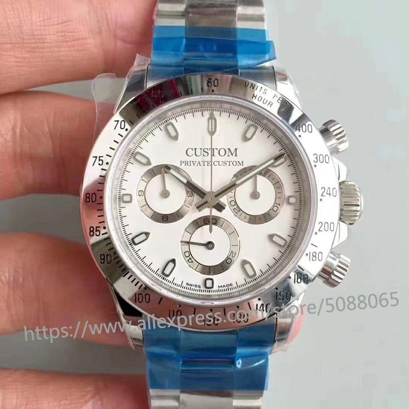 Reloj mecánico automático de marca de lujo de 39mm para hombres, relojes de zafiro de acero inoxidable 7